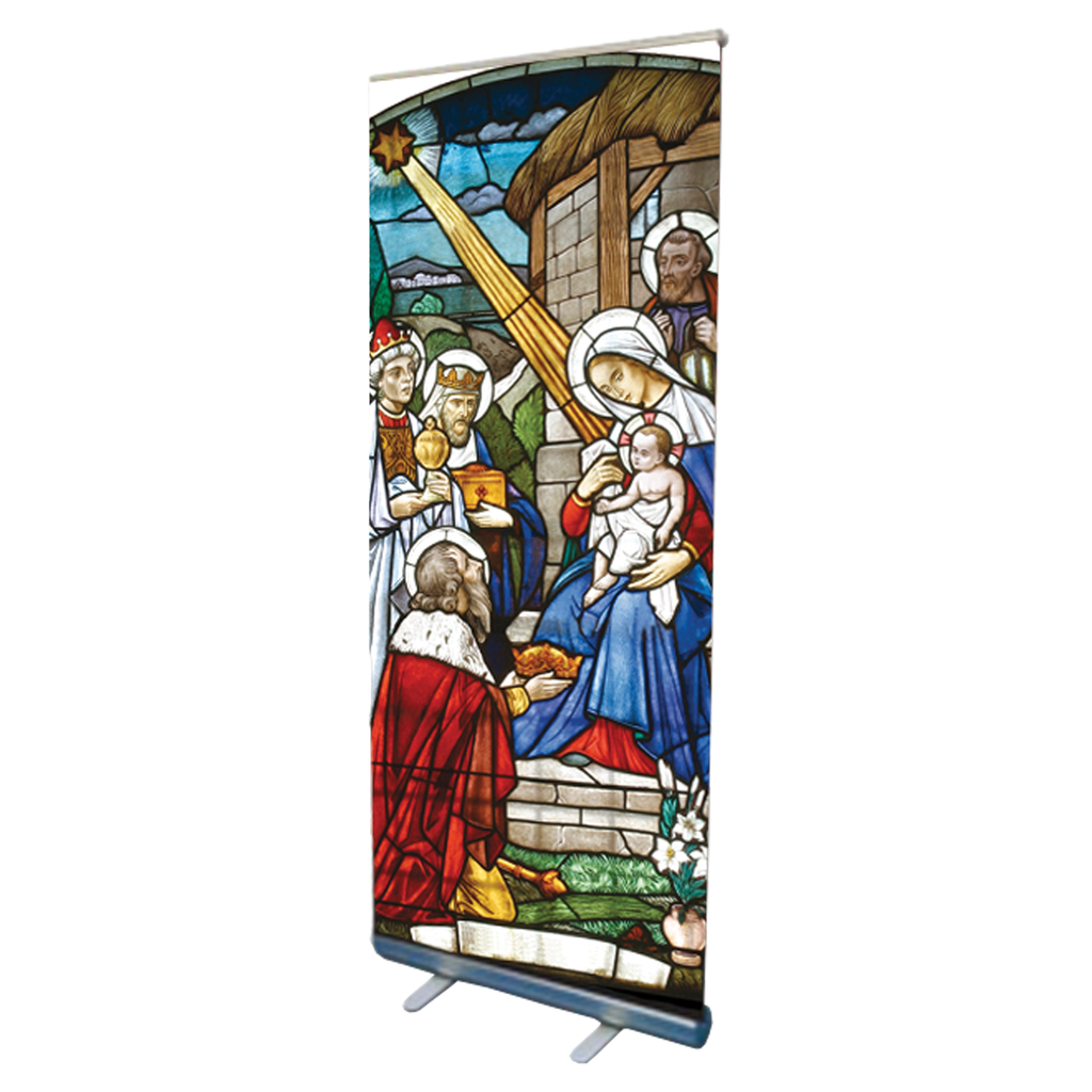 nativity christmas design pop up banner
