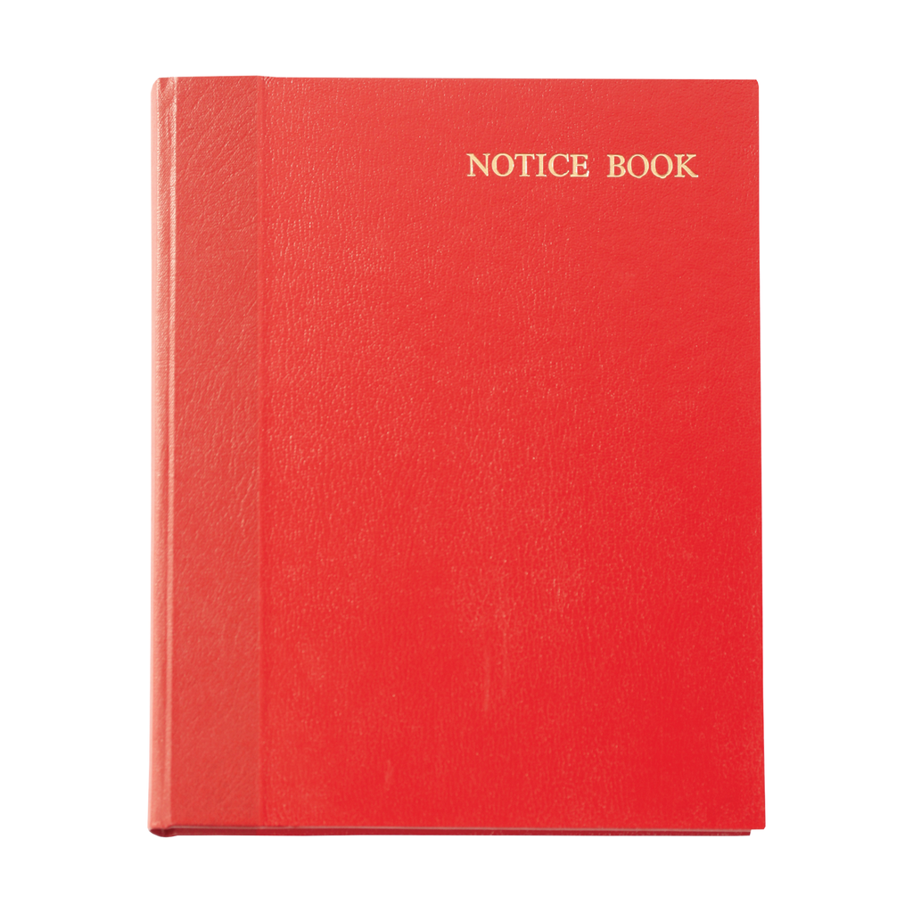 notice book - front cover