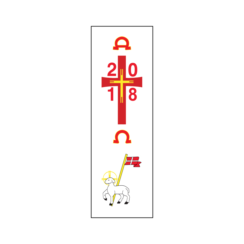 paschal candle peel off easter transfer - agnus dei lamb