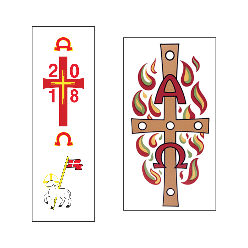paschal candle peel off easter transfer - all designs