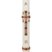 jewelled cross premium wax relief paschal candle