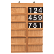 plain oak hymn praise board with numbers