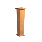 plain oak pedestal with tapered stem