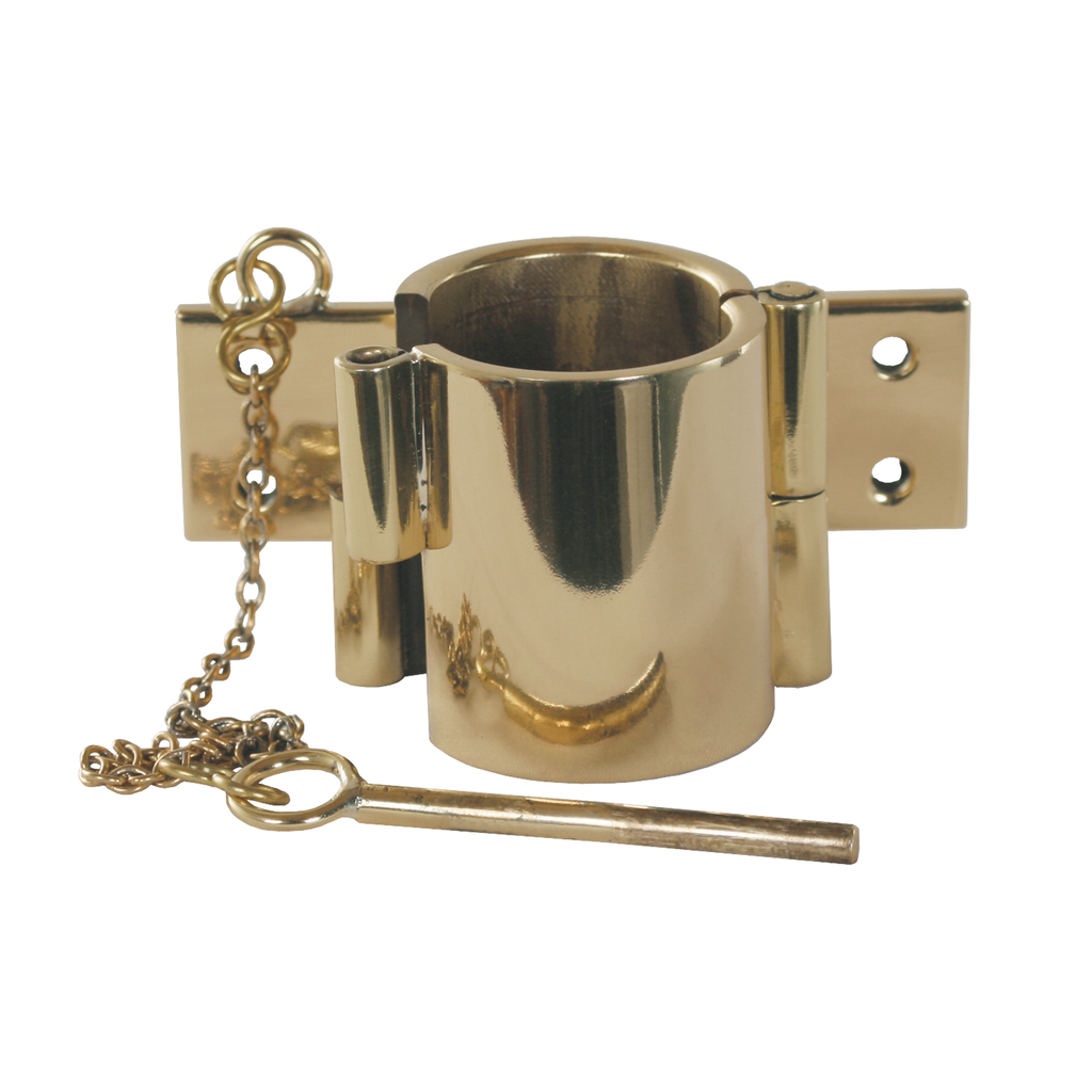 pole brass hinged clip and socket - made to order