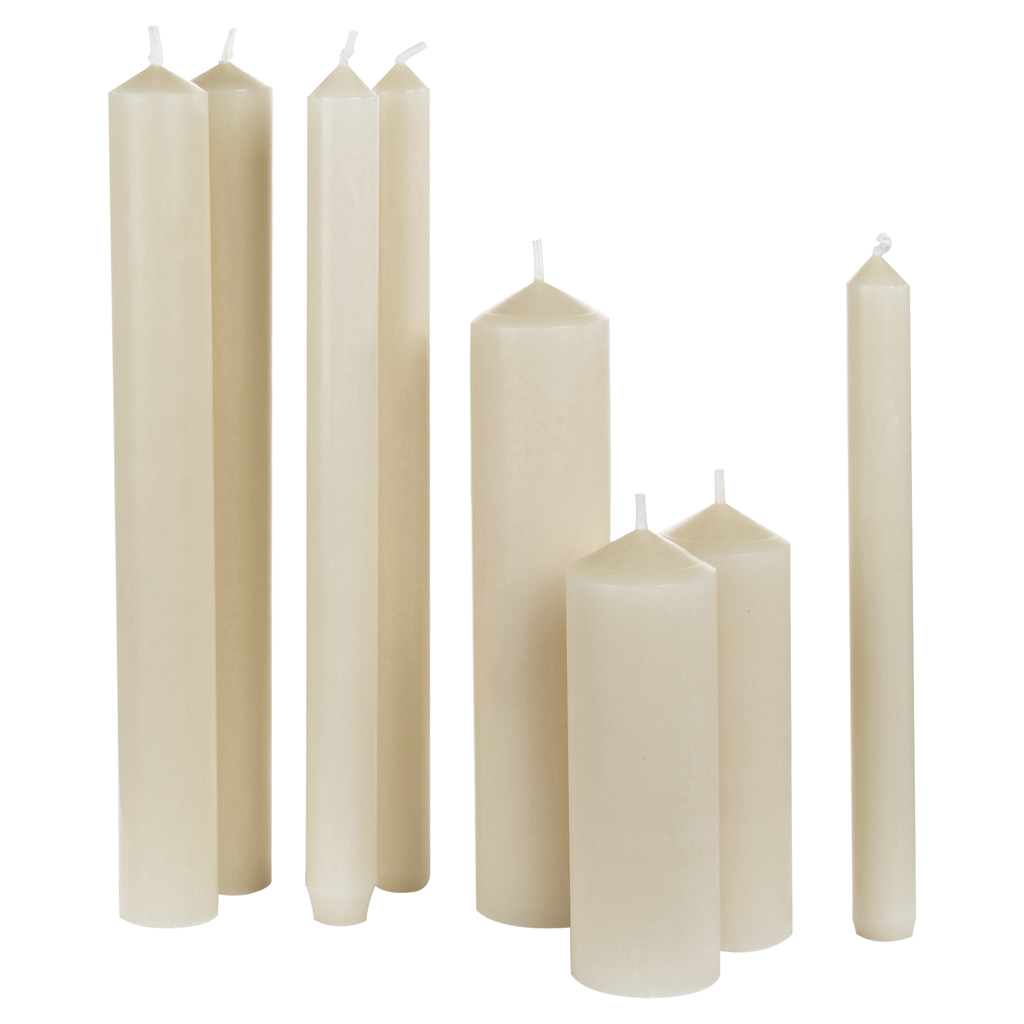 priory ivory altar candles