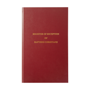 register of reception of baptised christians - front cover