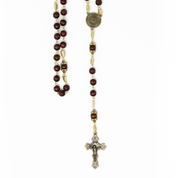 rosary with crucifix jewellery corpus and pendant - close up