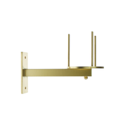 satin brass bracket with prongs