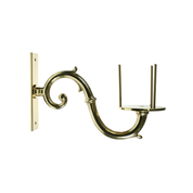 scroll arm brass bracket with prongs