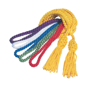 servers cincture cords with tasselled ends - gold green blue red violet and white
