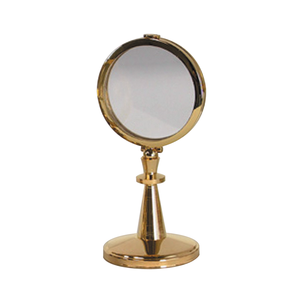 small plain gold plate monstrance