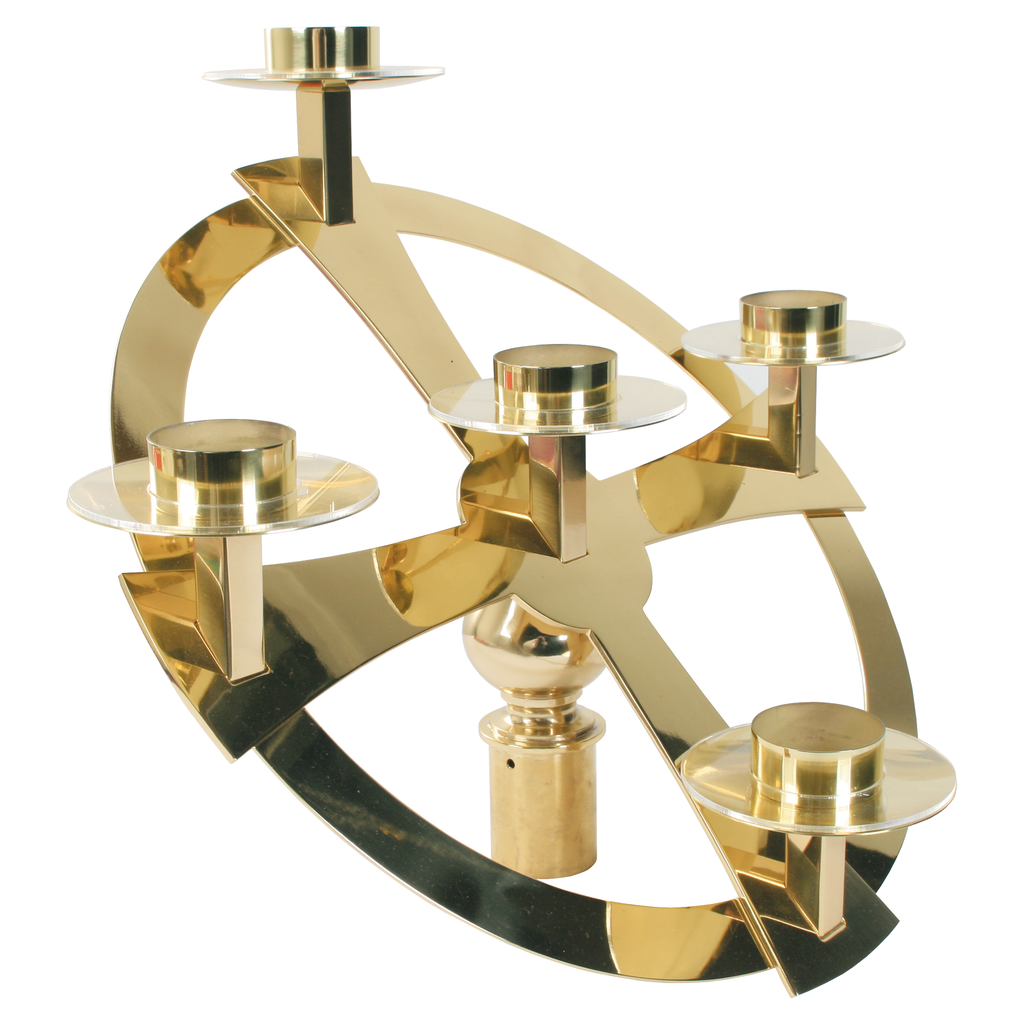 standing advent wreath brass top