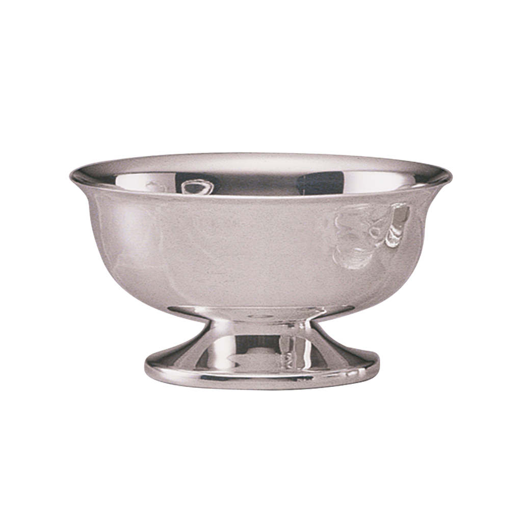 standing lavabo bowl - silver plate and solid silver
