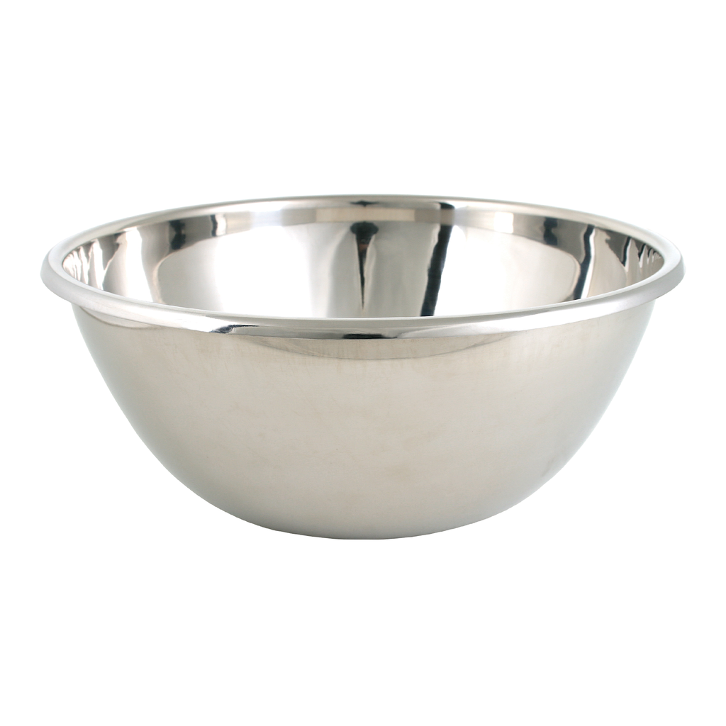 stainless steel rounded baptismal bowl