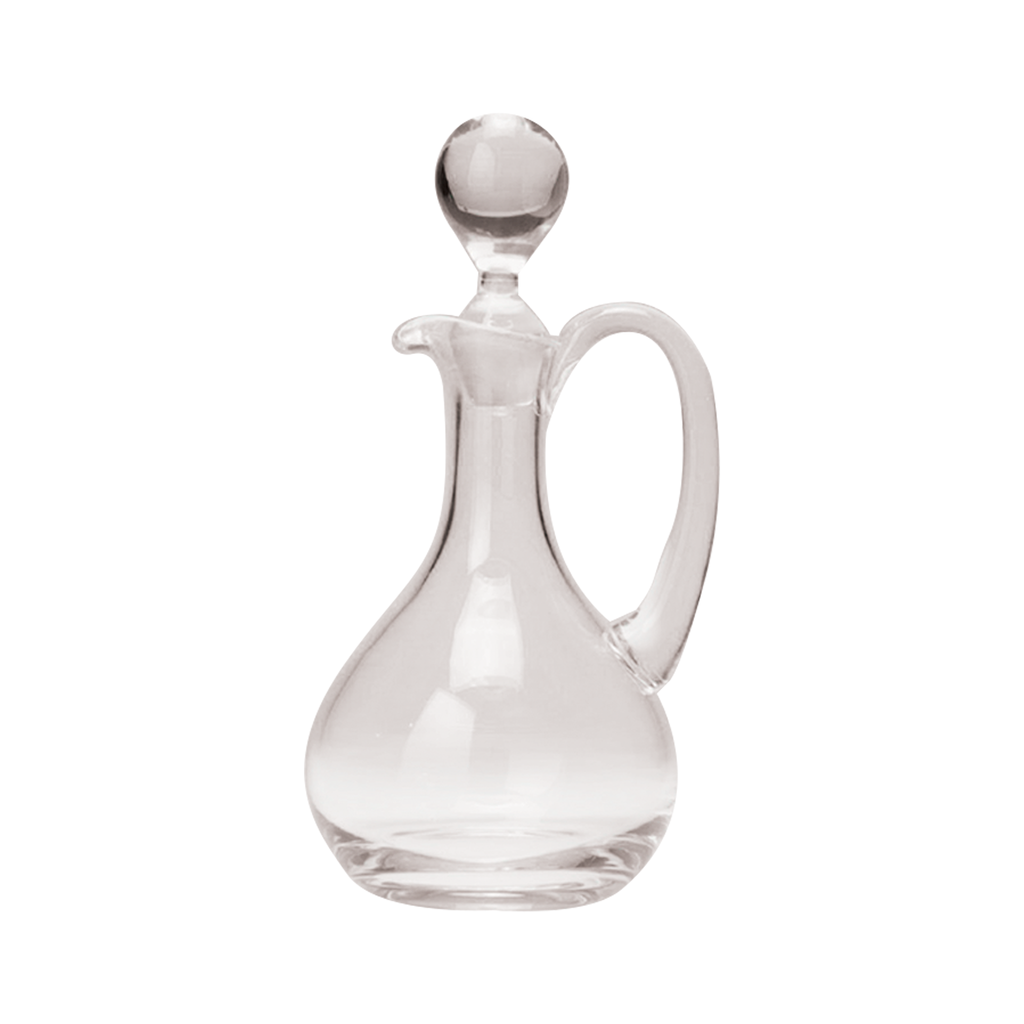 stopper glass cruet with handle - glass stopper