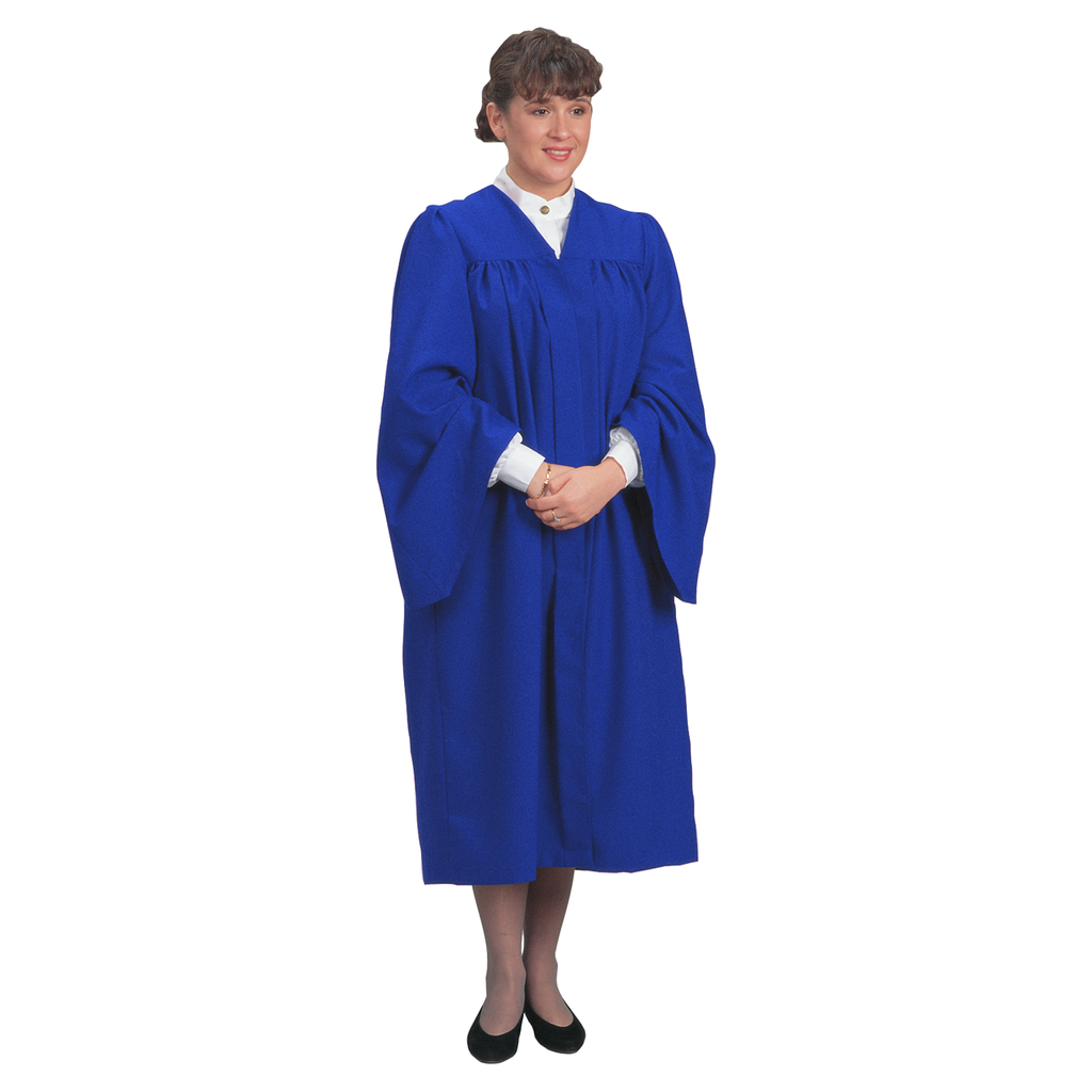 traditional choir gown - blue