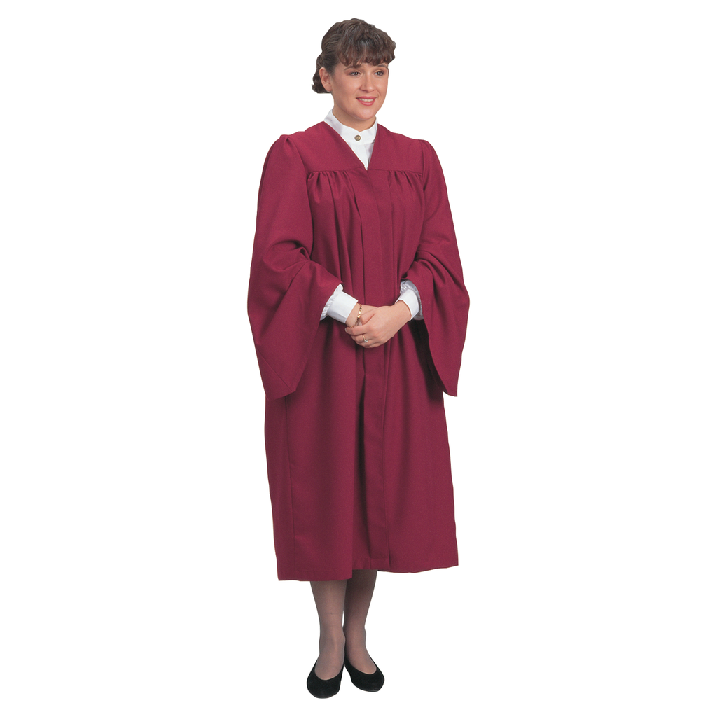 traditional choir gown - burgundy