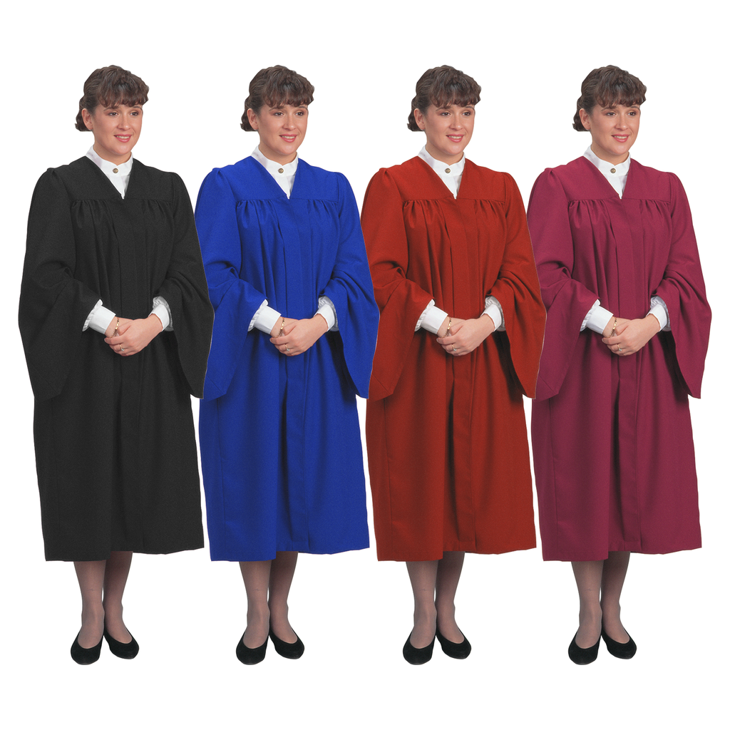 traditional choir gown - black blue red and burgundy
