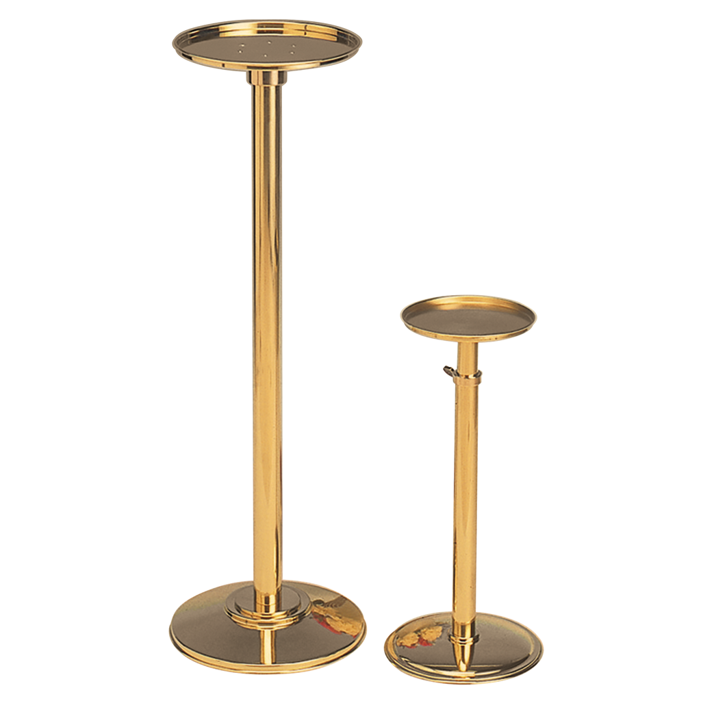 brass telescopic vase stand - small and large