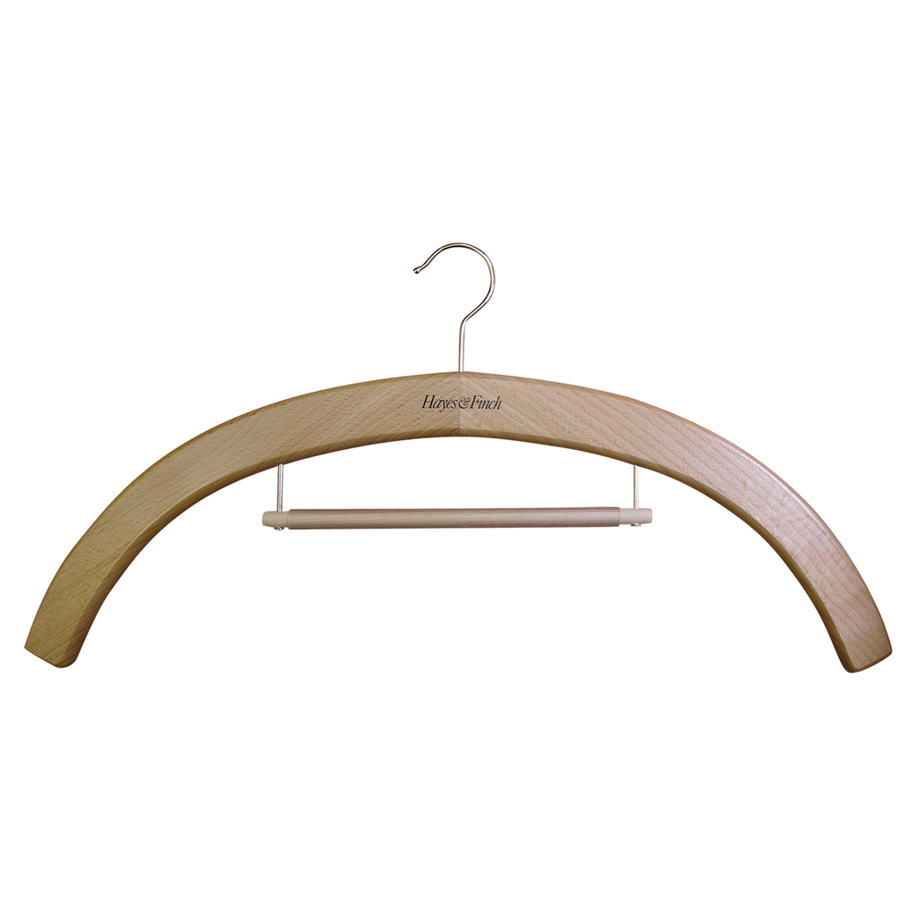 vestment wood hanger with hanging rail for stole