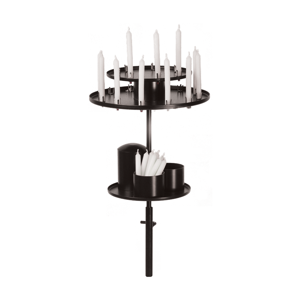 votive candle holder wrought iron stand top