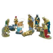wood pulp crib set statues - 11 figures