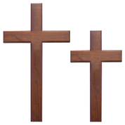 "wooden cross - 12"" and 16"" high"