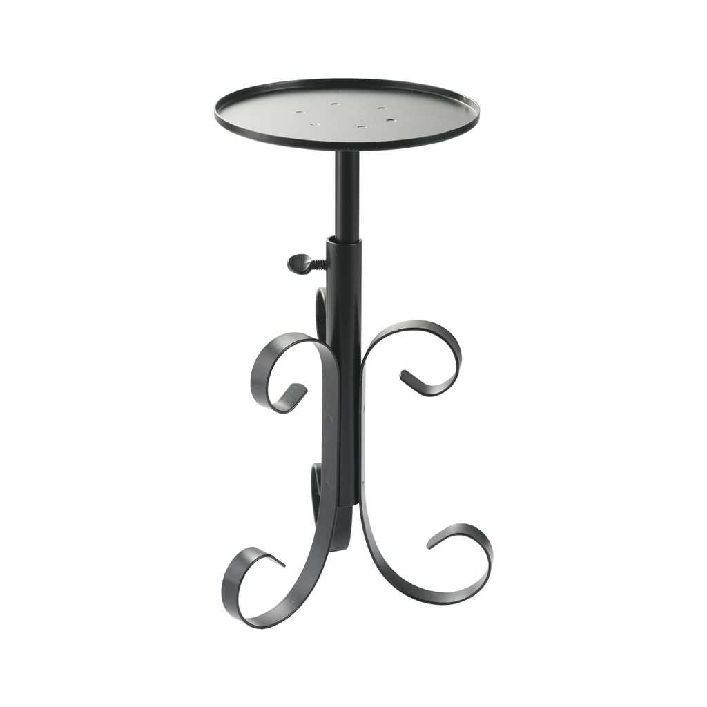 wrought iron extendable vase stand