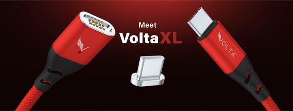 Volta XL- Strength. Versatile. Beautiful. Fast. Taking inspiration from the coveted, magnetically- attaching MagSafe design.
