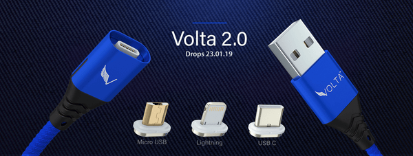 Volta 2.0 - 5A Super fast charging Magnetic Cable | Drops 23.01.19