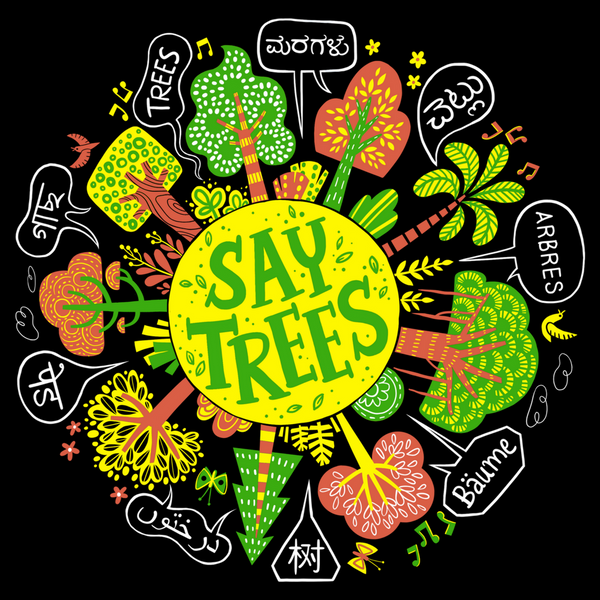 SayTrees Global Tree Graphic T-Shirt