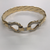 Men's 9ct Stone Set Double Hook And Loop Bangle