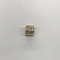 Sterling Silver And Gold Plate Pandora Charm