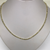 Sterling Silver And Gold Plate Diamond Cut Necklace