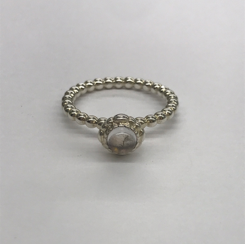 Pandora Clear Birth Stone Ring