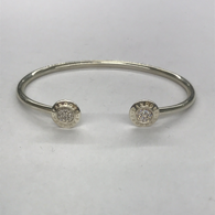Sterling Silver Pandora Torque style Bangle