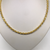 Sterling Silver And Gold Plate Rope Necklace