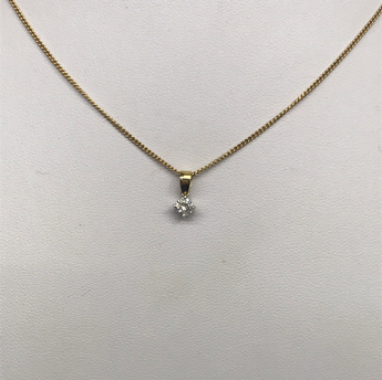 Diamond Pendant 0.33 ct