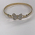 9ct Ladies Butterfly Stone Set Bangle