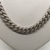 Sterling Silver Stone Set Flat Curb Necklace