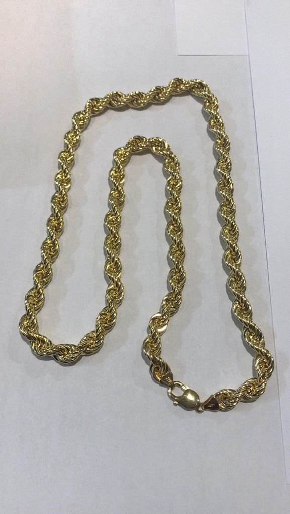 9ct Mens Rope Necklace 28 Inches in Length