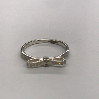 Pandora Stone Set Bow Ring