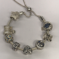 Sterling Silver Pandora Mother And Son Bracelet