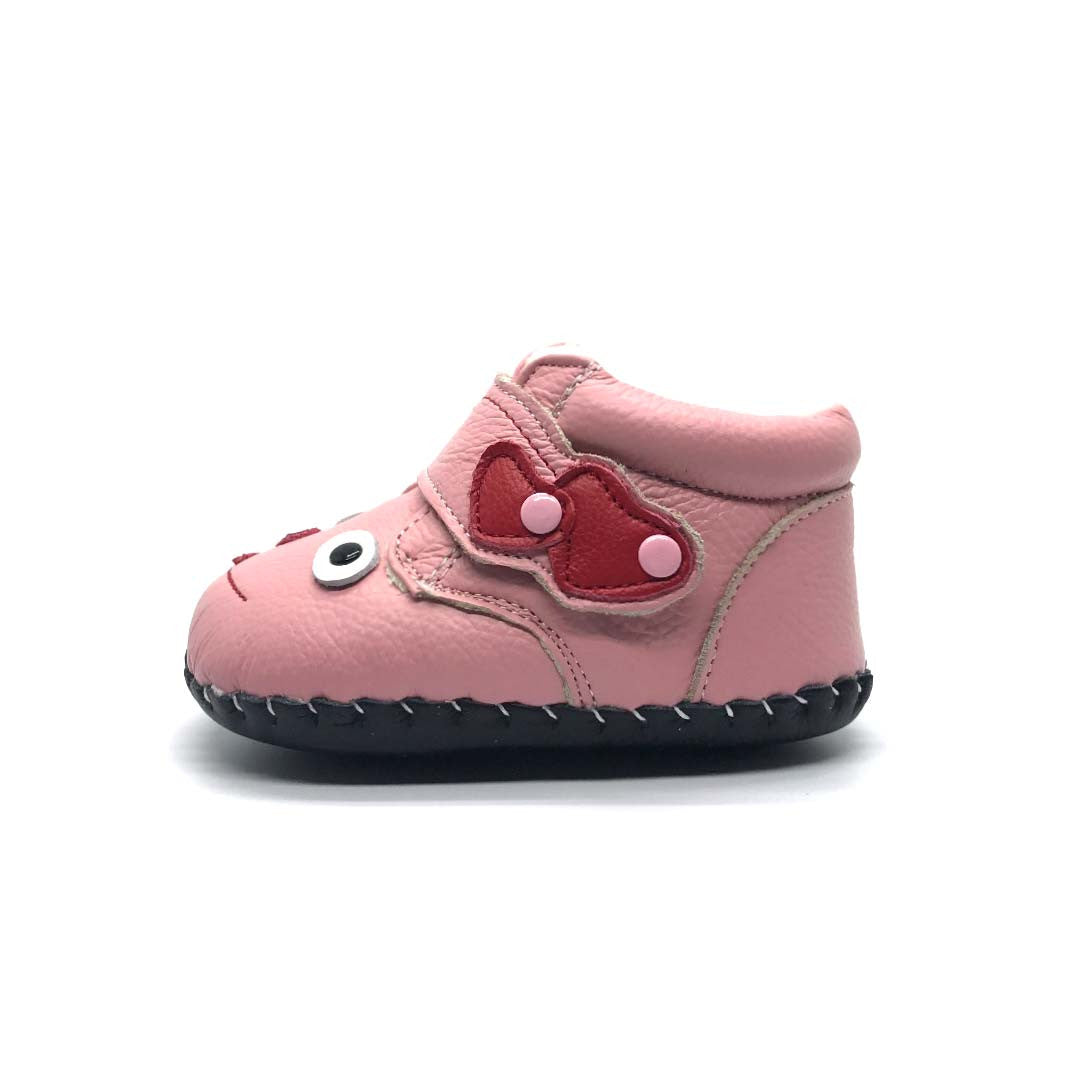 Cheeky Face Baby Boot Pink