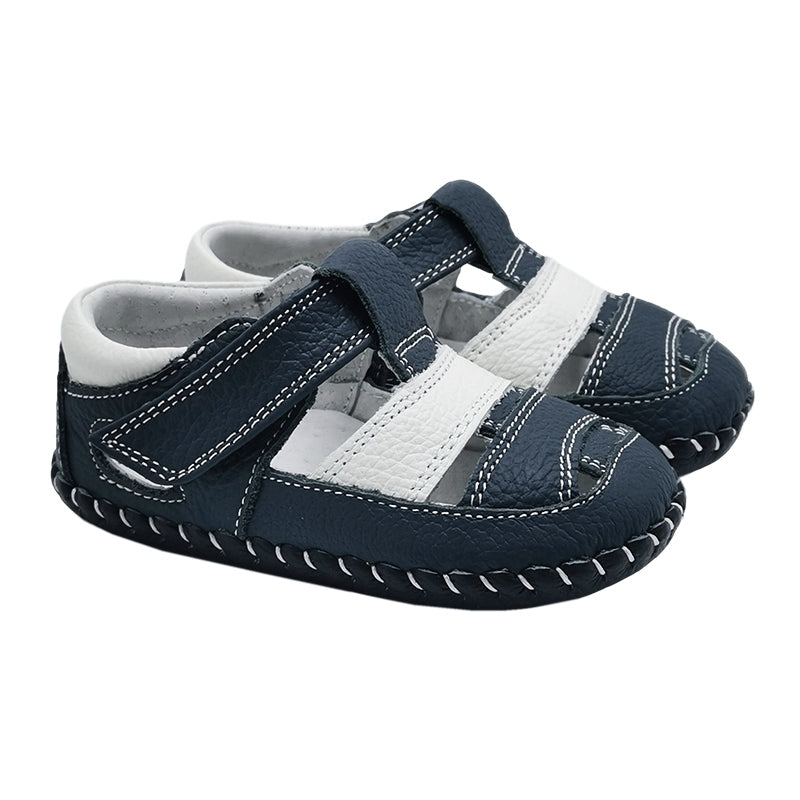 Bailey Baby Sandals Navy and White