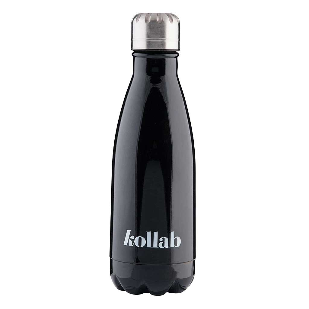 350ml Shiny Black Drink Bottle