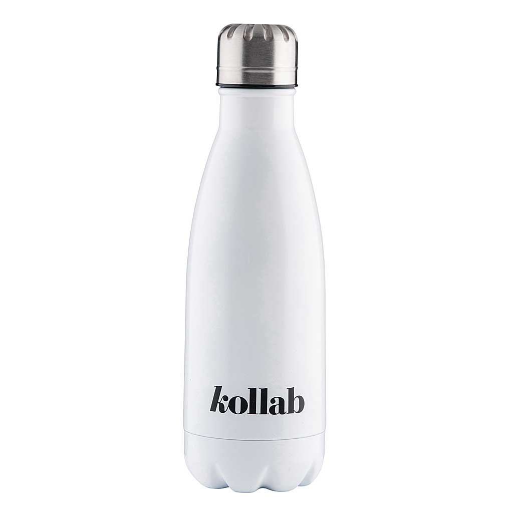 350ml Shiny White Drink Bottle