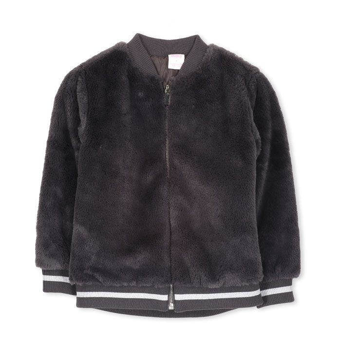 Kids Fur Bomber Jacket