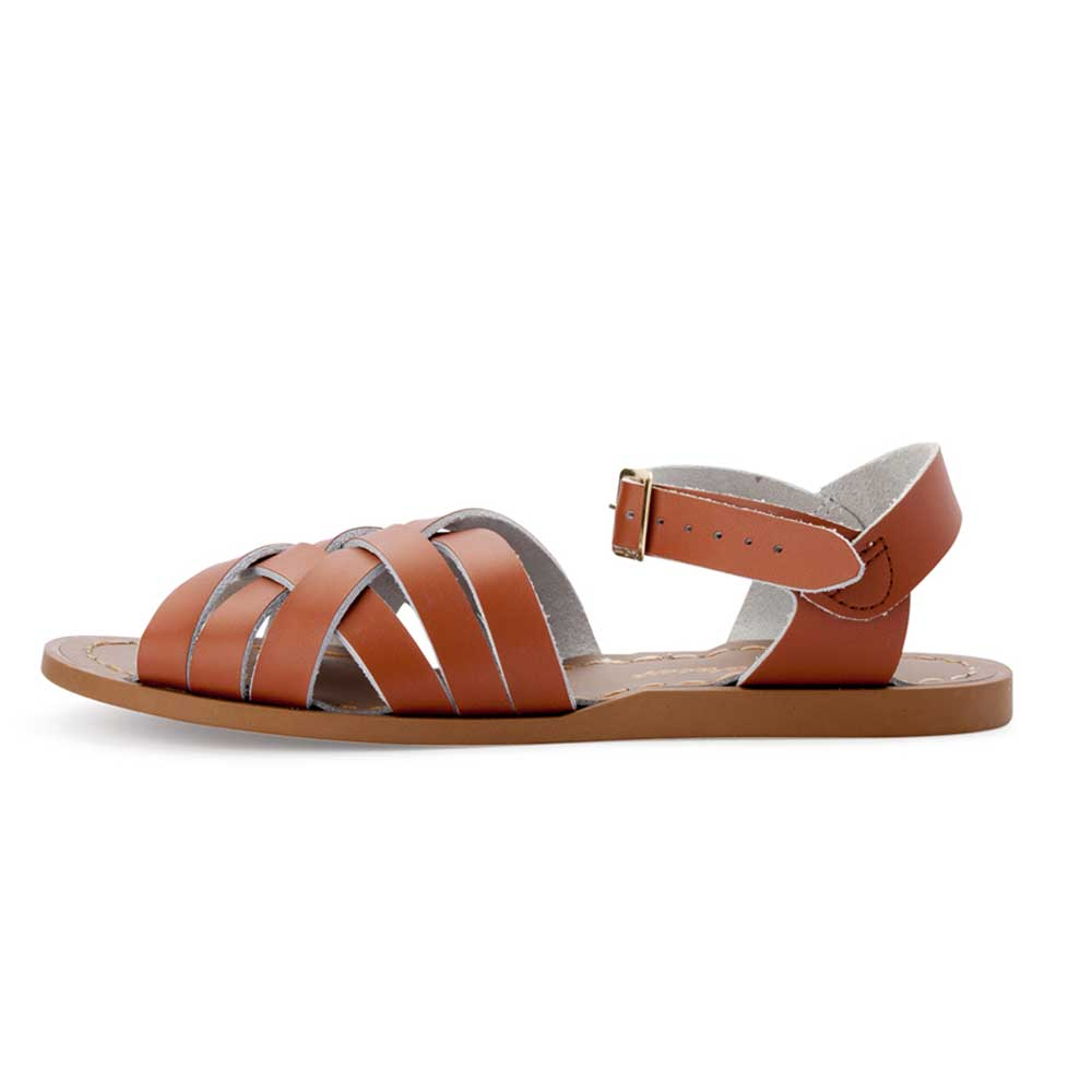 Womens Retro Saltwater Sandals Tan