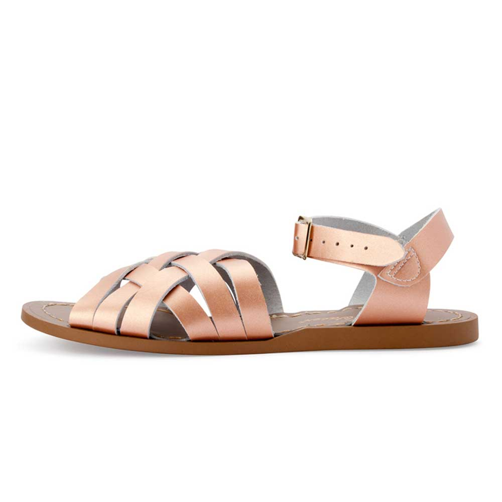 Womens Retro Saltwater Sandals Rose Gold